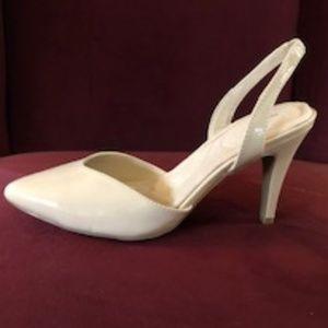 Avon Cushion Walk Sling-back Pumps - Beige Size 8